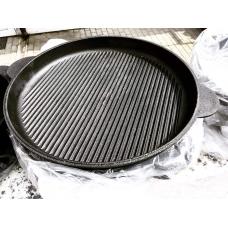 Чугунная сковорода гриль 400*40 мм